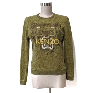 Kenzo Paris tiger sweater embroidery